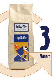 3 Monate Kaffeegenuss