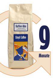 9 Monate Kaffeegenuss