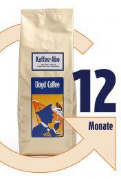 12 Monate Kaffeegenuss